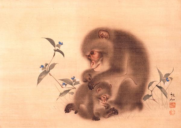細見美術館 森狙仙 猿図 アート ... : 年賀状 蛇 イラスト : イラスト